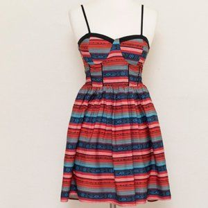 Band of Gypsies Striped Spaghetti Strap Dress